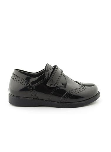 Cici Bebe Ayakkabı Rugan E Erkek Çocuk Ayakkabısı Siyah